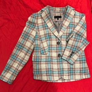 Talbot Wool Blend Plaid Jacket size 4